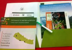 The package of PBN Nepal materials handed out at the final national dissemination event