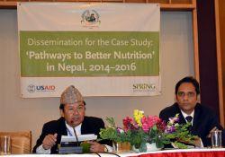 From the National Planning Commission, Professor Geeta Bhakta Joshi (Hon. Member), Mr Madhu Kumar Marasini (Joint Secretary), and Dr. Yagya Karki (Former Hon. Member, not pictured) presided over the event