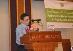 Co-Investigator Madhukar B. Shrestha presents the recommendations of the PBN Nepal case study