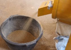 The processors shells bio-fortified millet in minutes. Women spend hours or days to do the same work by hand.