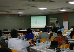Mike Mazinga presents the results of the 2016 maize milling mapping exercise.