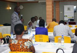 A representative from the millers Gimoro Laker-Ojok discusses the barriers that are preventing millers from starting maize flour fortification.
