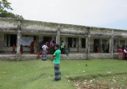 Health camp venue at Dhalchar