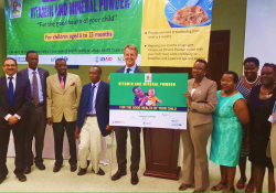 Key partners involved in the roll out of the Vitamin and Mineral Powder Program in Uganda (Photo credit: Abel Muzoora).