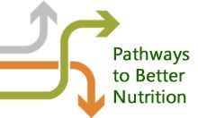 Pathways to better nutrition icon with arrows