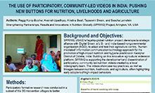 The Use of Participatory, Community-led Videos in India: Pushing New Buttons for Nutrition, Livelihoods, and Agriculture