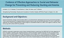 Evidence of Effective Approaches to Social and Behavior Change for Preventing and Reducing Stunting and Anemia