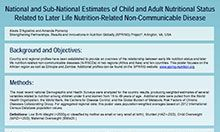 National and Sub-National Estimates of Child and Adult Nutritional Status Related to Later Life Nutrition-Related Non-Communicable Disease