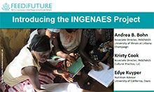 An overview of the INGENAES project (Integrating Gender and Nutrition within Agriculture Extension Systems)