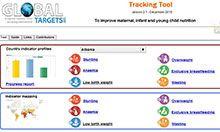 WHO Tracking Tool screenshot