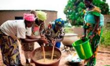 Women in Mali demonstrate how to prepare rich and nutritional meals using local ingredients.
