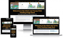 The IYCF image bank is designed to be responsive to different screen sizes.
