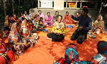 U.S. Ambassador and USAID Mission Director Visit a SPRING/Bangladesh Farmer Nutrition School