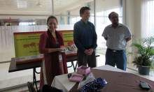 Left to Right: Kathrin Tegenfeldt, Country Director FHI360/Bangladesh and Acting COP for SHIKHA, Aaron Hawkins, COP SPRING/Bangladesh, and Dr. Iftekhar Rashid, Nutrition Specialist USAID/Bangladesh