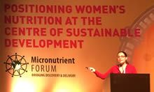 Dr. Namaste presenting at the Micronutrient Forum 2016