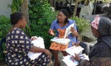 Participants carrying out a one-on-one counseling at Family Health Clinic Area 2, Abuja