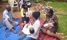 SPRING organized field visits to a health facility and a community where participants received hands-on experience forming support groups and conducting group counseling