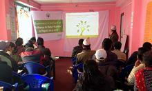 PBN Nepal team member Madhukar B. Shrestha presents final district findings in Achham