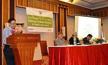 Madhukar B. Shrestha presents the results of the PBN study in Nepal