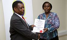 Receiving a certificate for competent testing of fortified foods