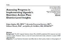 Assessing Progress in Implementing Uganda's Nutrition Action Plan: District-Level Insights Article Thumbnail