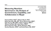 Measuring Nutrition Governance: An Analysis of Commitment, Capability, and Collaboration in Nepal Thumbnail