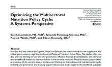 Optimizing the Multisectoral Nutrition Policy Cycle: A Systems Perspective Thumbnail