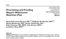 Prioritizing and Funding Nepal's Multisector Nutrition Plan Article Thumbnail