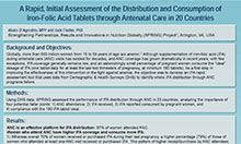 A Rapid, Initial Assessment of the Distribution and Consumption of Iron-Folic Acid Tablets through Antenatal Care: A Comparative Analysis