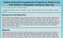 Positive Unintended Consequences in Programs for Women's and Child Nutrition in Bangladesh: Scaling Up Tippy Taps