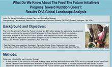 What Do We Know About the Feed the Future Initiative's Progress toward Nutrition Goals? Results of a Global Landscape Analysis