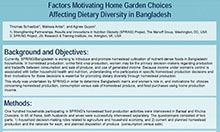 Factors Influencing Home Garden Choices Related to Dietary Diversity in Bangladesh