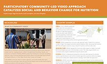 Participatory Community-Led Video Approach Catalyzes Social and Behavior Change for Nutrition