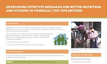Developing Effective Messages for Better Nutrition and Hygiene in Tonkolili: The TIPs Method