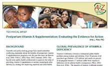 Technical Brief: Postpartum Vitamin A Supplementation: Evaluating the Evidence for Action