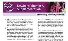 Newborn Vitamin A Supplementation: Frequently Asked Questions