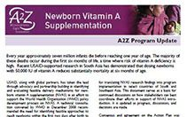 Newborn Vitamin A Supplementation: A2Z Program Update