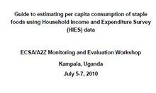 Guide to Estimating Per Capita Consumption of Staple Foods Using Household Income and Expenditure Survey (HIES) Data