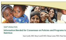 Gap Analysis: Information Needed for Consensus on Policies and Programs to Improve Iron Nutrition