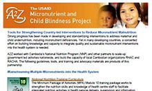Tools for Strengthening Country-led Interventions to Reduce Micronutrient Malnutrition