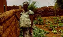 During her pregnancy, Denise's sister-in-law benefitted from healthy produce grown in the household garden.