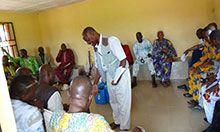 Community members learn about the importance of proper infant and young child feeding practices, Utagban community, Edo state.