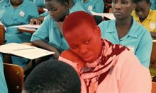 Student highlighted in red to depict prevalence of anemia among students
