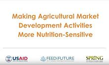 Making Agricultural Market Development Activities More Nutrition-Sensitive
