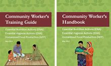 Covers of the Community Health Worker's Training Guide and Handbook