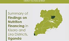 ummary of Findings on Nutrition Financing in Kisoro and Lira Districts,Uganda front page