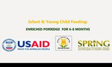 Local Video: How to Make Enriched Porridge for Children 6-8 Months (recipe)
