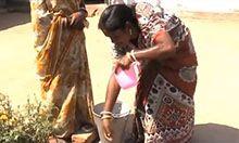 woman demonstrating handwashing