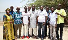 SPRING/Senegal staff and video hub members.