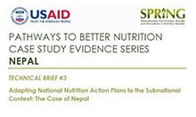 Adapting National Nutrition Action Plans to the Subnational Context: The Case of Nepal
